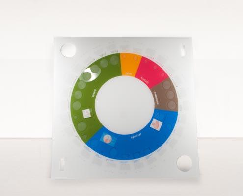 In außergewöhlicher Qualität und Präzision im Plattendruck, Plattendirektdruck, Direktdruck auf Acrylglas, Druck hinter Acrylglas und gefräst