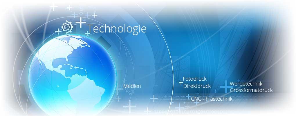 Hier erfahren Sie alles über die Technologieen bei P&M im Direktdruck, Plattendruck, Fräsen, Werbetechnik und App Entwicklung