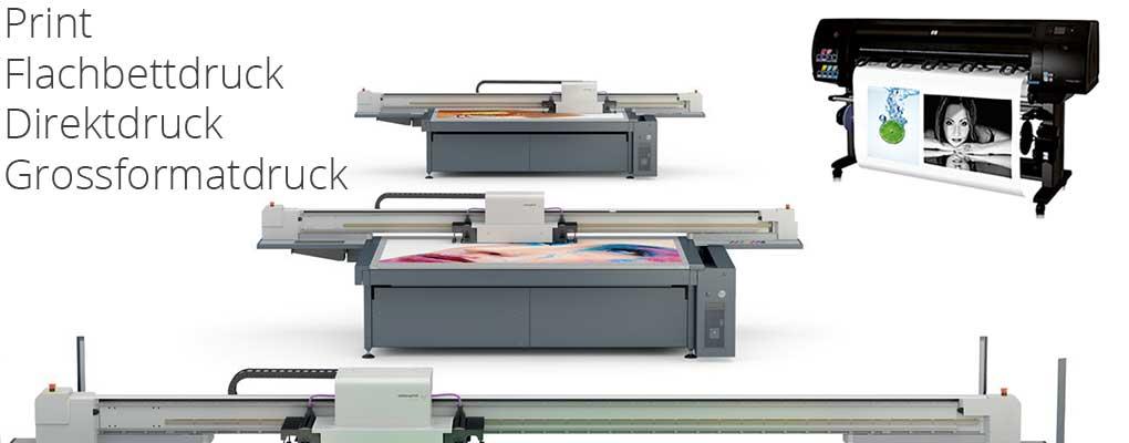Alles über den Flachbettdruck, Direktdruck, Plattendruck und Photo- Latexdruck