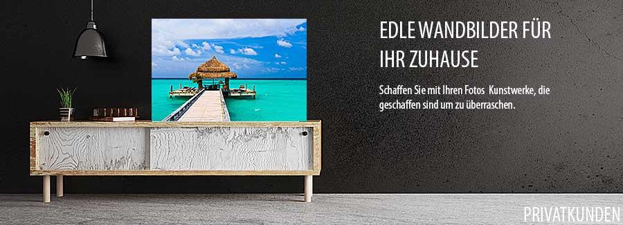 Direktdruck von Fotobildern auf AluDibond, Forex, Acrylglas und Holz