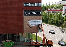 P&M Gebäude Werbung Gwinner