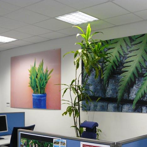 Leinwand Druck für Bürodekoration im Fotodruck Verfahren