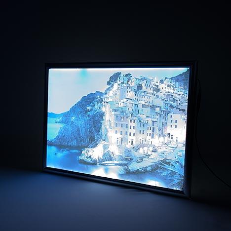 Backlit Folie im LED Rahmen