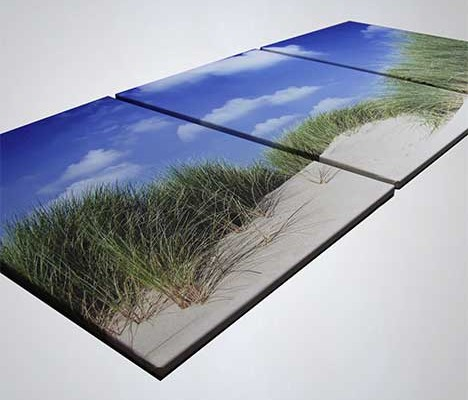 Fotodruck auf Leinwand als 3 Teiler