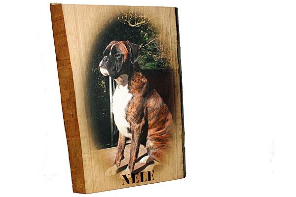 Druck auf eine durchegehende Buchen Holzplatte aus dem Schwarzwald